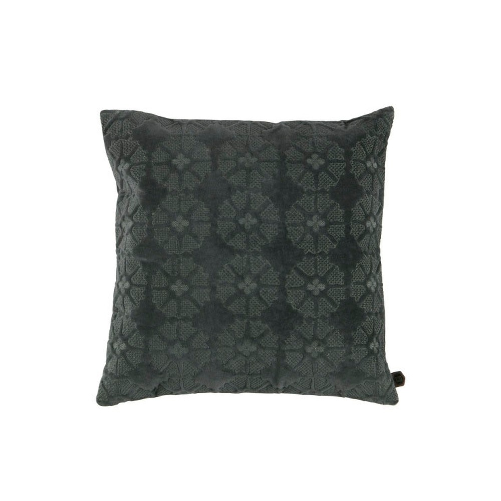 Zamatový sivý vankúš De Eekhoorn Gossip, 50×50cm