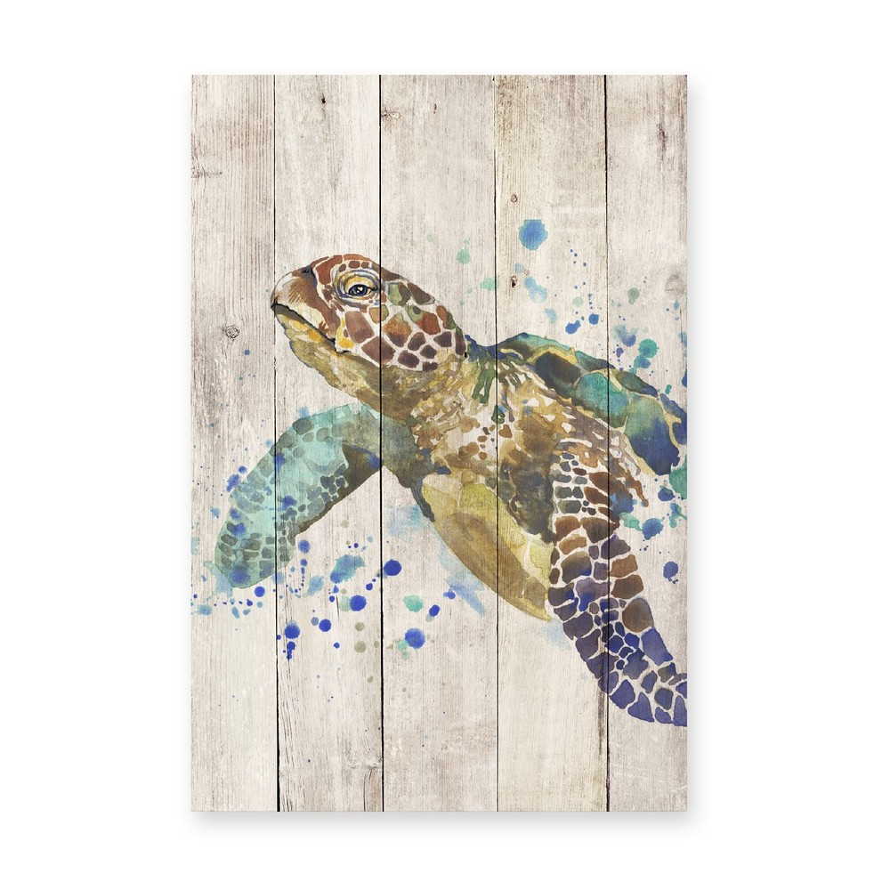 Obraz na dreve Little Nice Things Turtle, 60 x 40 cm