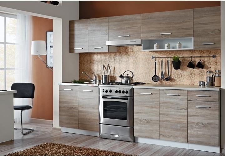 TEMPO KONDELA CYRA NEW 250 kuchyňa - dub sonoma / biela