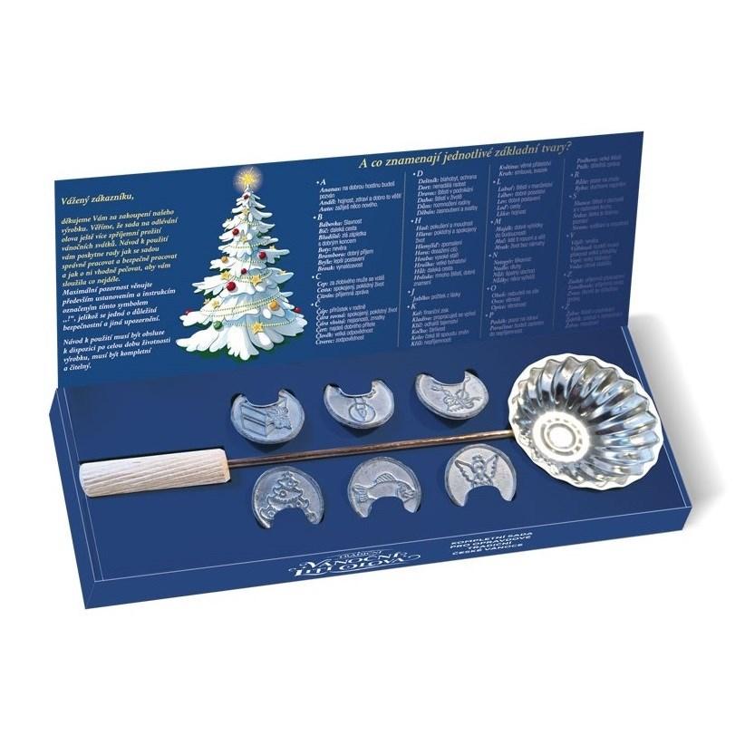 Tradičné vianočné liatie olova, 7 ks