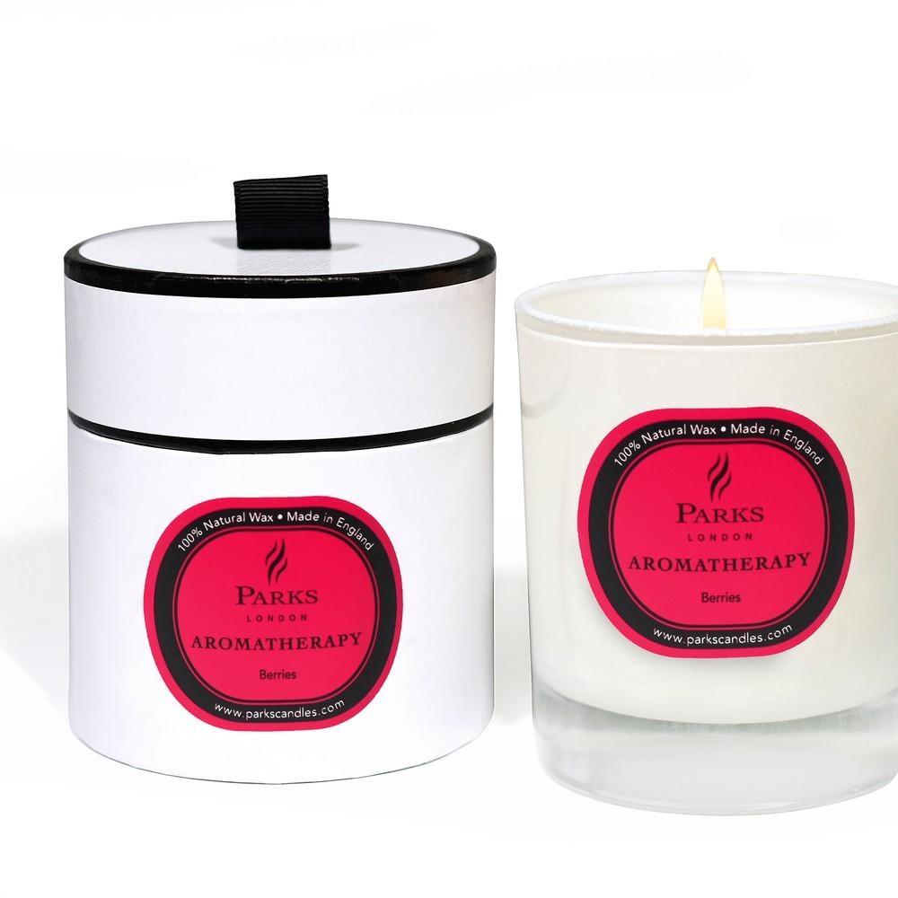 Sviečka s vôňou lesného ovocia Parks Candles London Aromatherapy, 50 hodín horenia