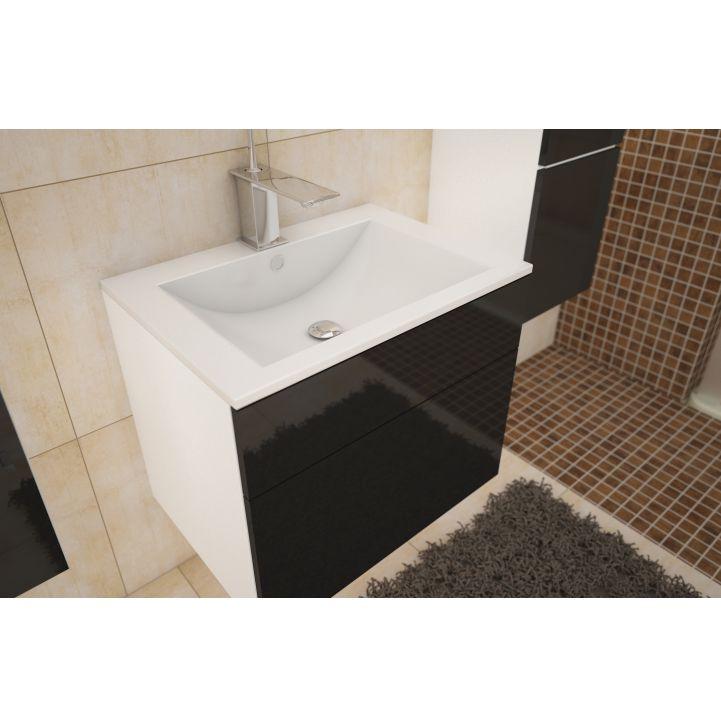 Skrinka pod umývadlo, biela/čierny HG, MASON BL 13