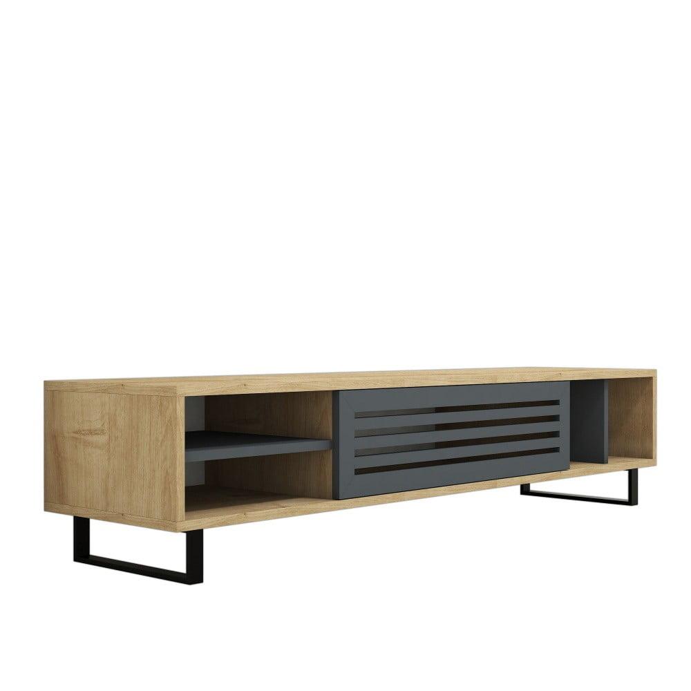 Hnedo-sivý TV stolík Safir