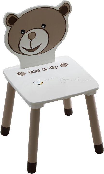 Detská stolička, čokoládová/biela, PUFF 234551