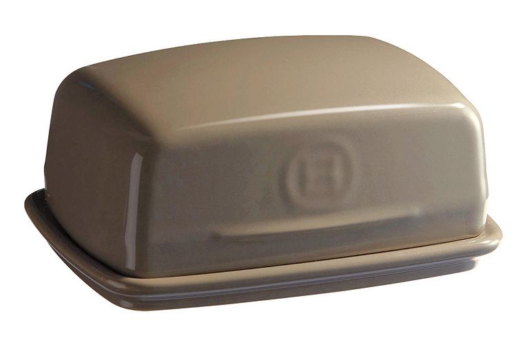 Keramická dóza na maslo Emile Henry feniklová 16,5 x 11,5 cm