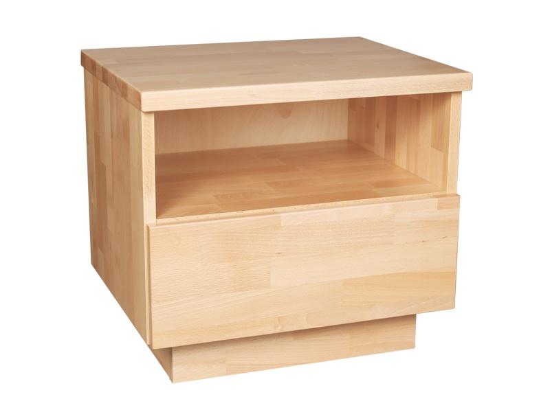PreSpánok Alfa - nočný stolík z buku alebo dubu Dub prírodný 50x40x45 cm