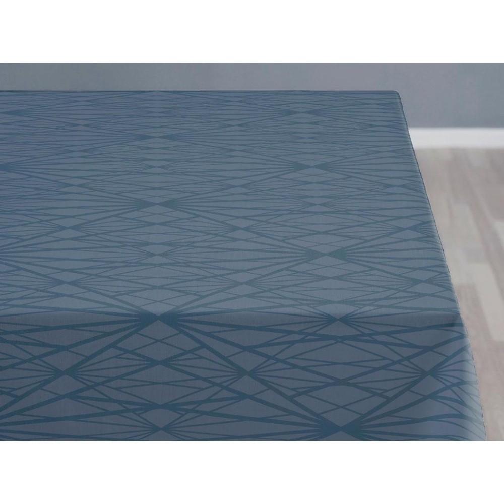 Modrý obrus Södahl Diamond, 140 x 370 cm
