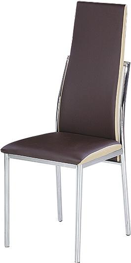 Jedálenská stolička Zora tmavohnedá