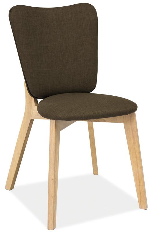 SIGNAL MONTANA jedálenská stolička - khaki / dub
