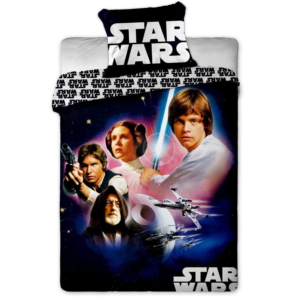 Jerry Fabrics Detské bavlnené obliečky Star Wars 01, 140 x 200 cm, 70 x 90 cm