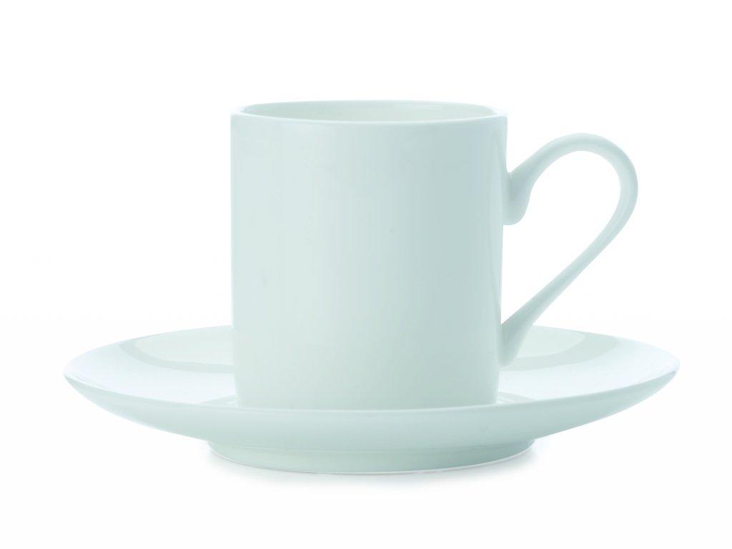 Espresso šálka & podšálka Cashmere biela 110 ml