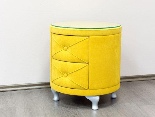 PreSpánok Gracie - čalouněný nočný stolík 51/49 cm cm