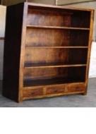Furniture nábytok  Masívna polica s 3 zásuvkami z Palisanderu  Áhang  85x45x180 cm