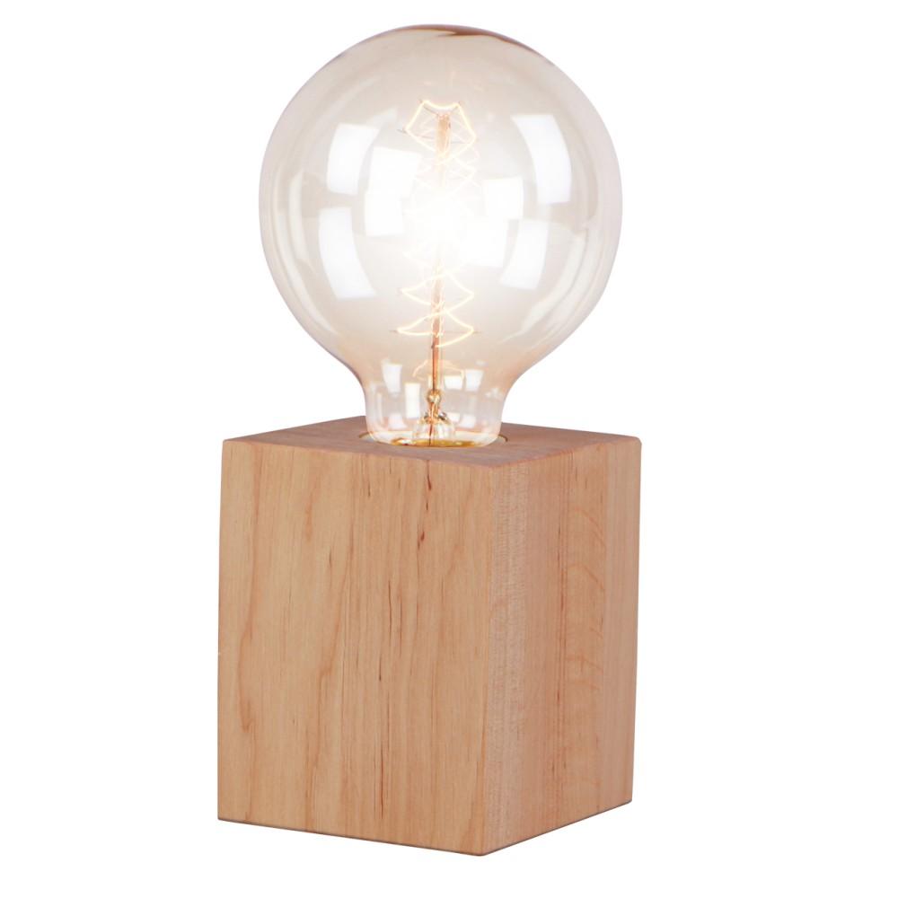 Stolová lampa z jelšového dreva Nørdifra Blocks, výška 10 cm