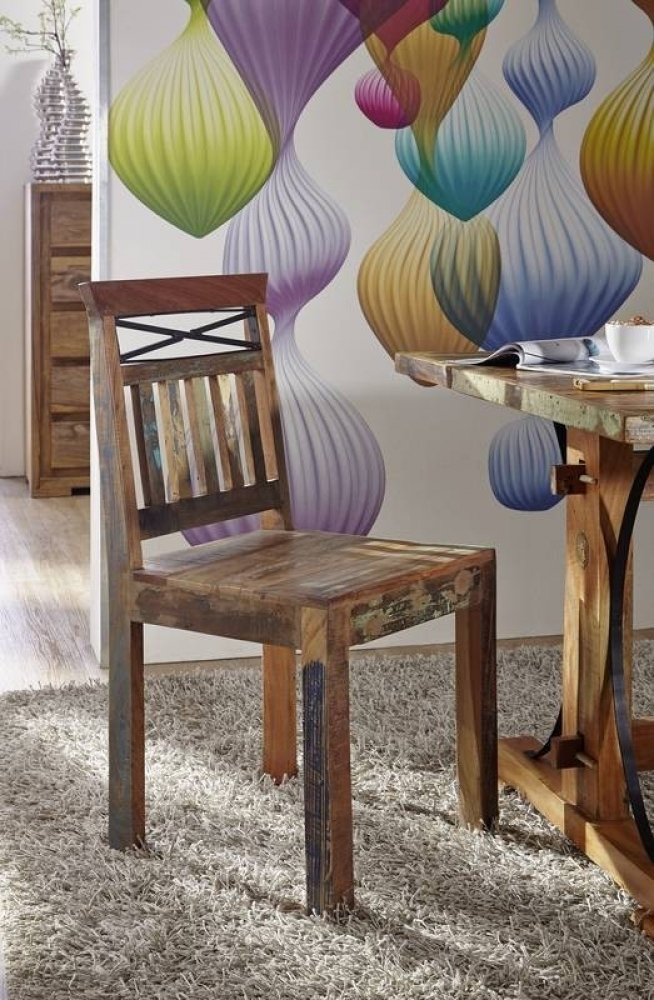 SPIRIT stolička #39 lakované staré indické drevo