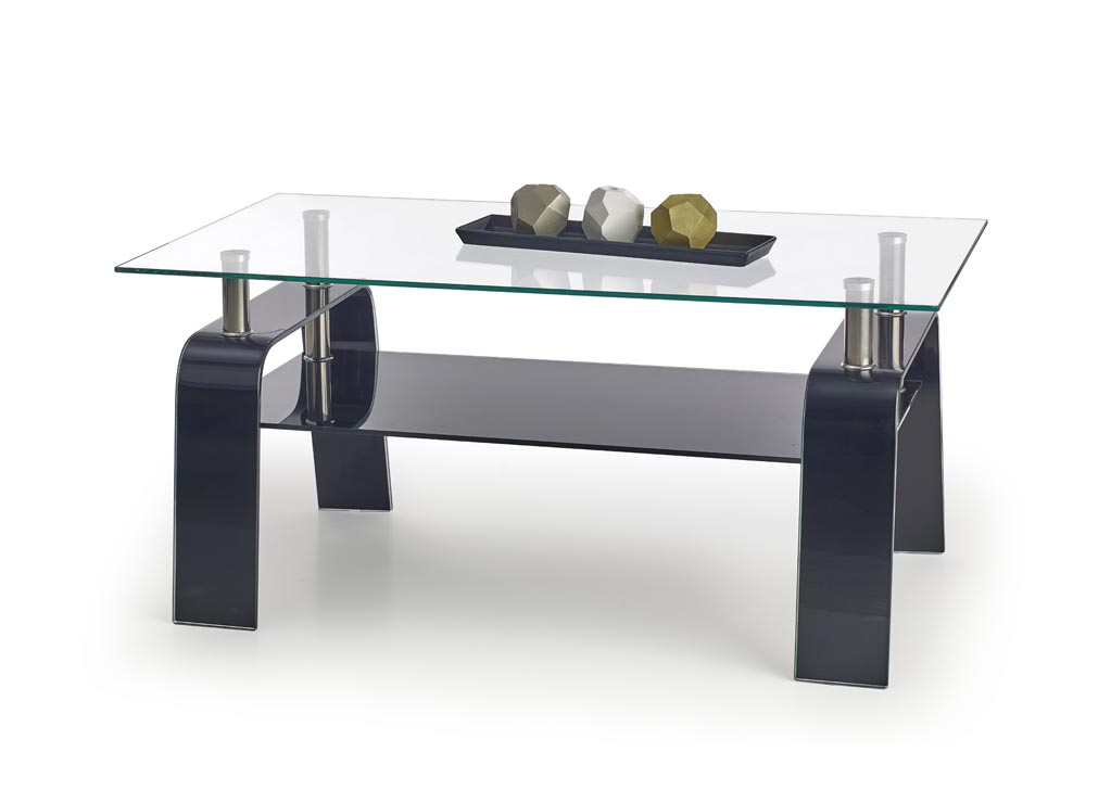 Konferenčný stolík Naomi (sklo + čierna)