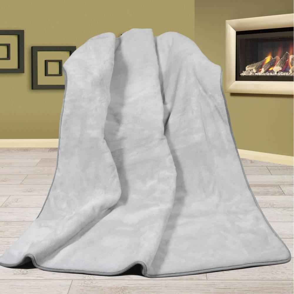 Bellatex vlnená deka Alpaka DUO UNI šedá, 155 x 200 cm
