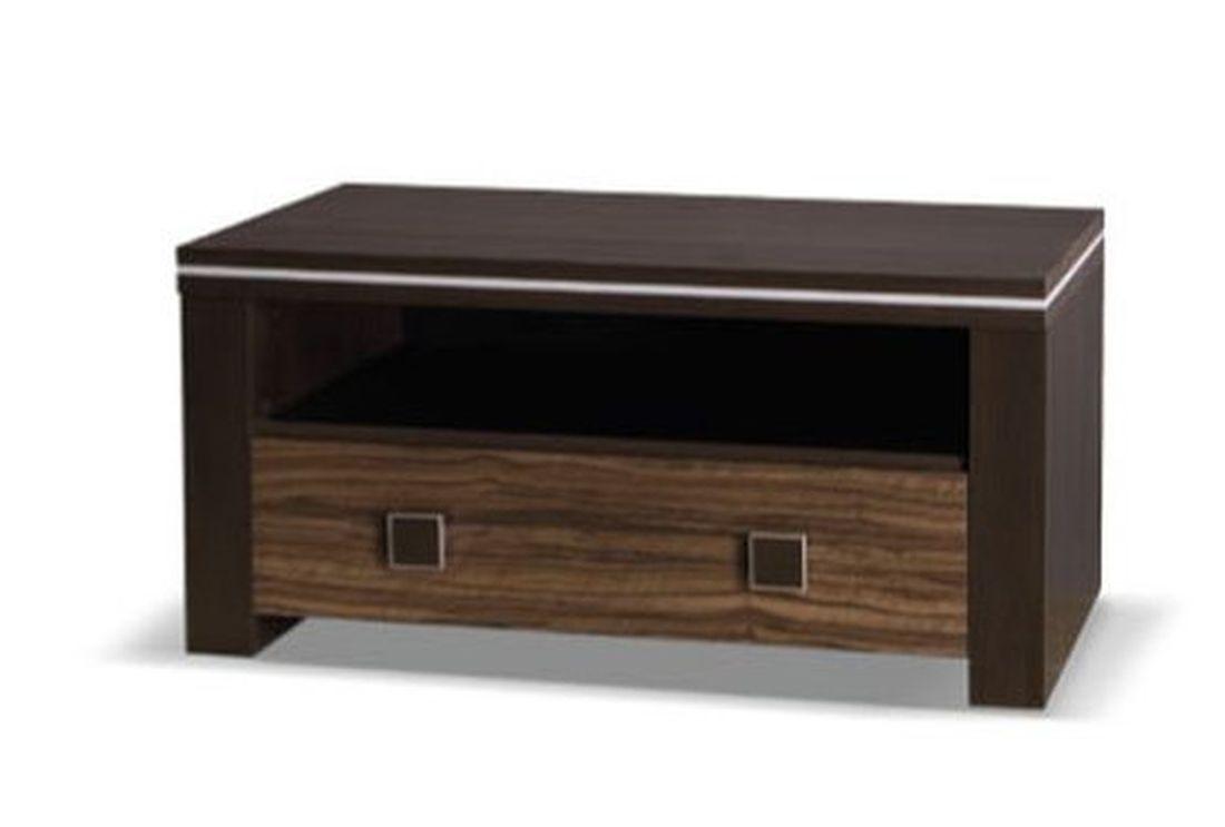 Televízny stolík WINNER 96, 47x96x50 cm, wenge/oliva