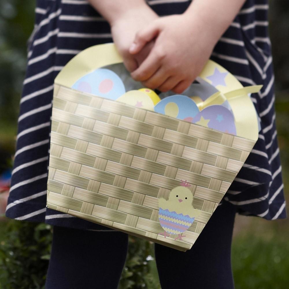 Sada 4 papierových košíkov Neviti Easter Chick