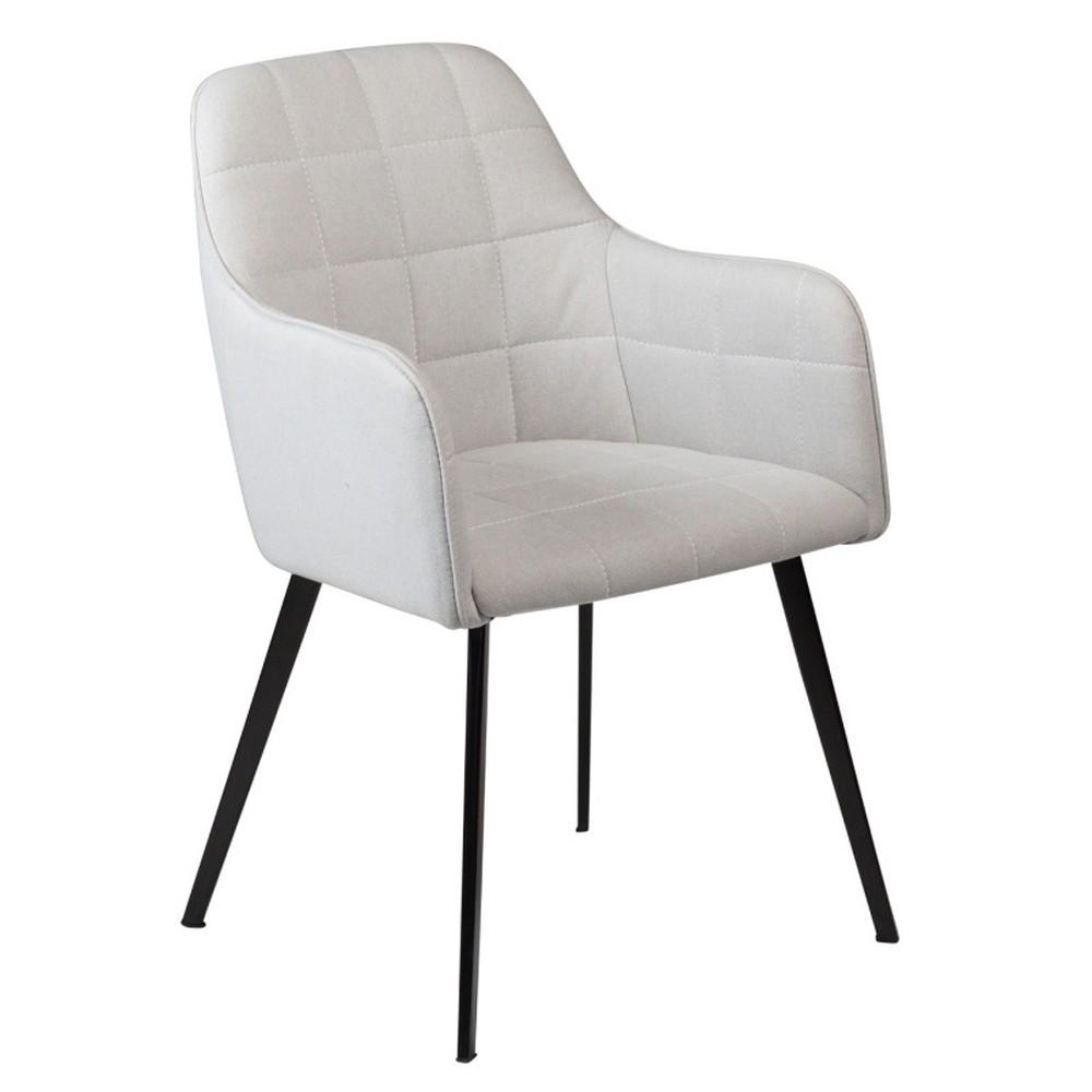Sivá jedálenská stolička s opierkami DAN– FORM Embrace