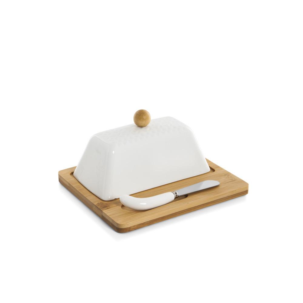 Nádoba na maslo s doštičkou a nožom Bambum Una
