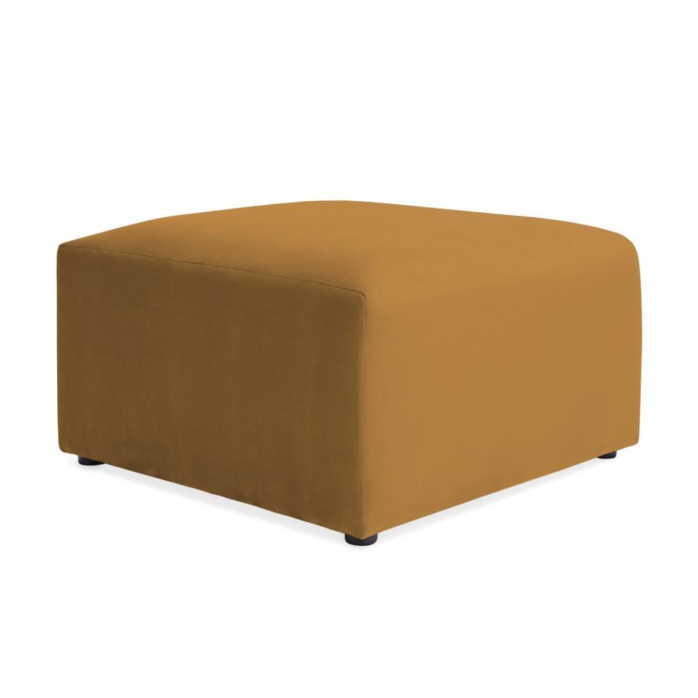 Horčicovožltá podnožka Vivonita Velvet Cube