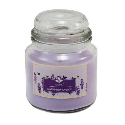 Arome Veľká vonná sviečka v skle Lavender Provence, 424 g