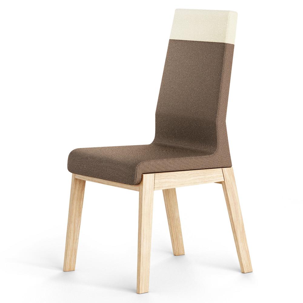 Hnedá stolička z dubového dreva Absynth Kyla Two