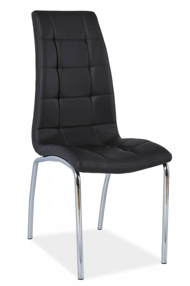 Jedálenská stolička H-104 (ekokoža čierna)