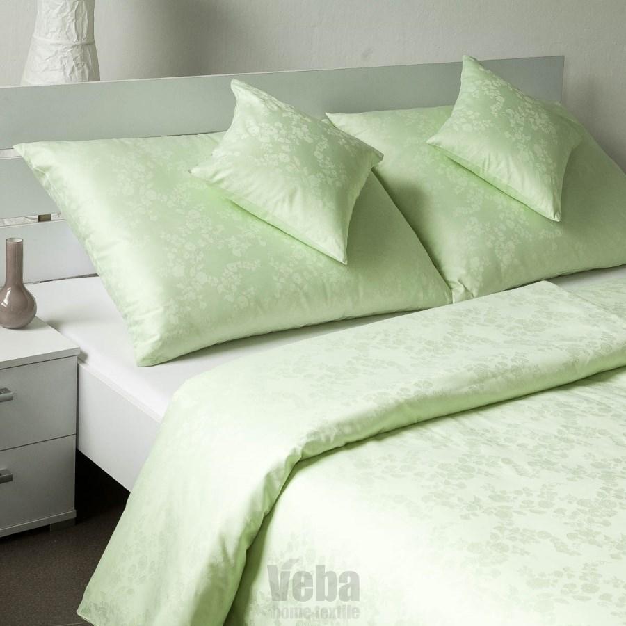 Veba Damaškové obliečky Bohema Pupenec zelená, 140 x 200 cm, 70 x 90 cm, 140 x 200 cm, 70 x 90 cm