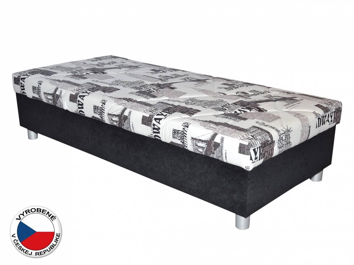 Jednolôžková posteľ (váľanda) 90 cm Blanár Inez (biela + čierna) (s roštom a matracom)
