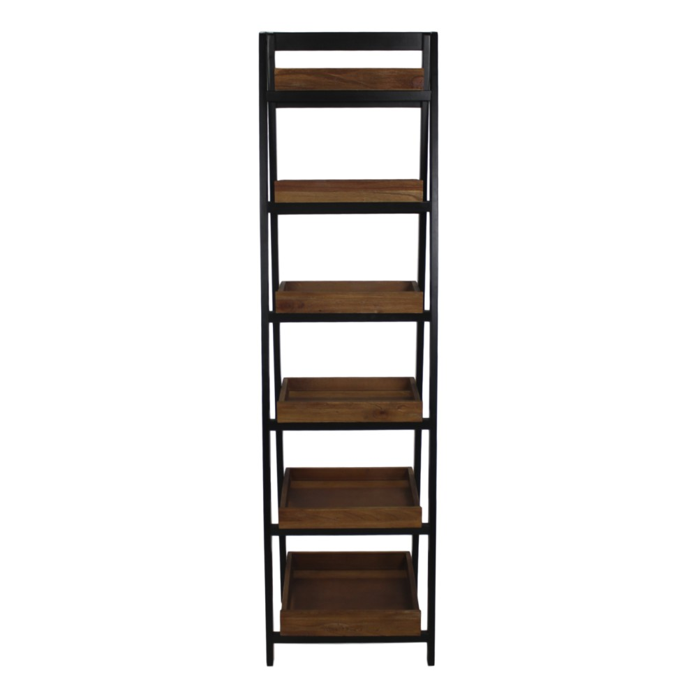 Hnedo-čierna knižnica HSM collection Ladder