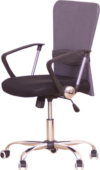 Kancelárske kreslo s čiernym sedákom, sivá opierka, AEX