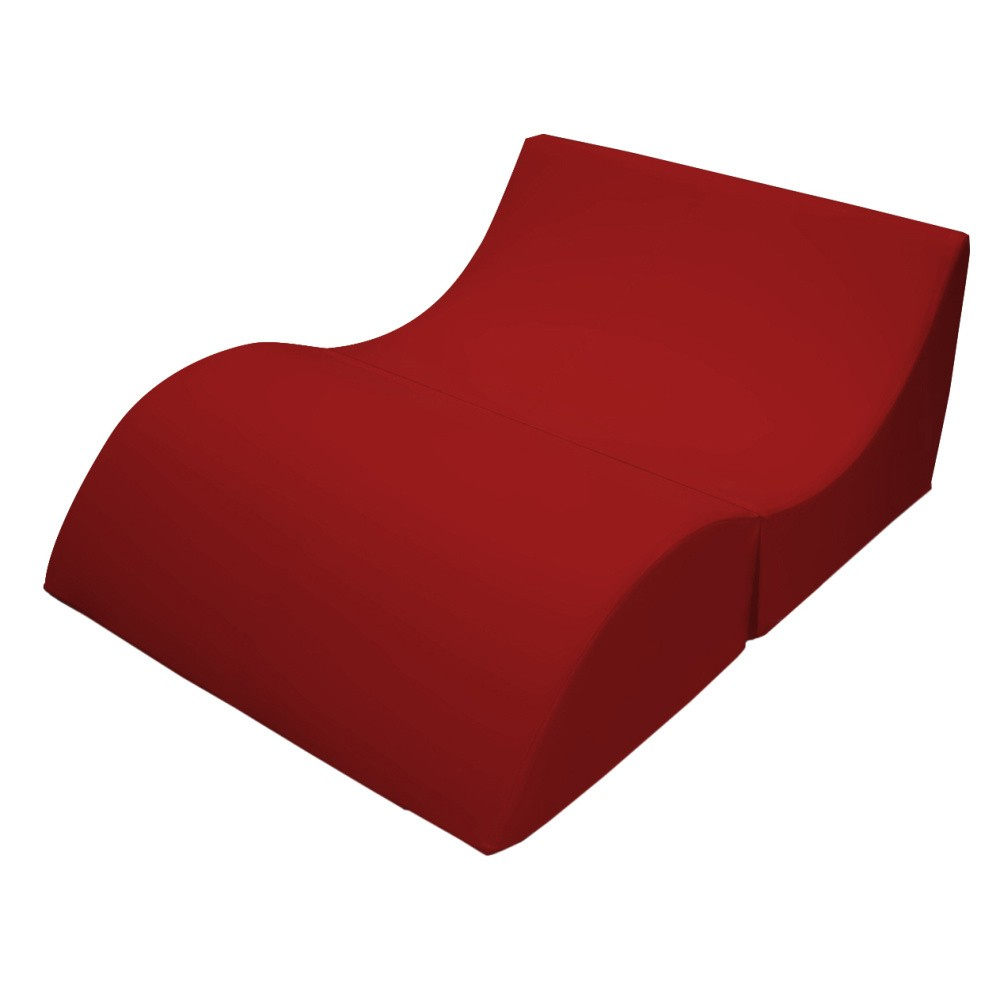 Červené variabilné ležadlo/stolík 13Casa Cleo