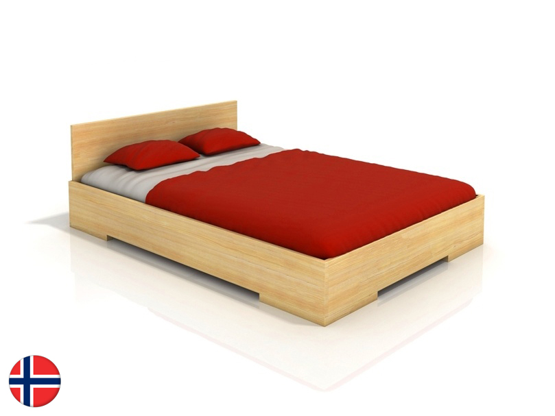 Manželská posteľ 200 cm Naturlig Kirsebaer High (borovica) (s roštom)