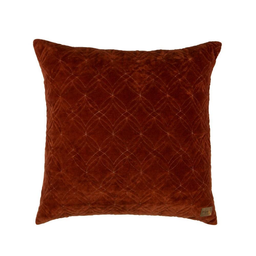 Tmavý červený bavlnený vankúš De Eekhoorn Cherish, 50×50cm