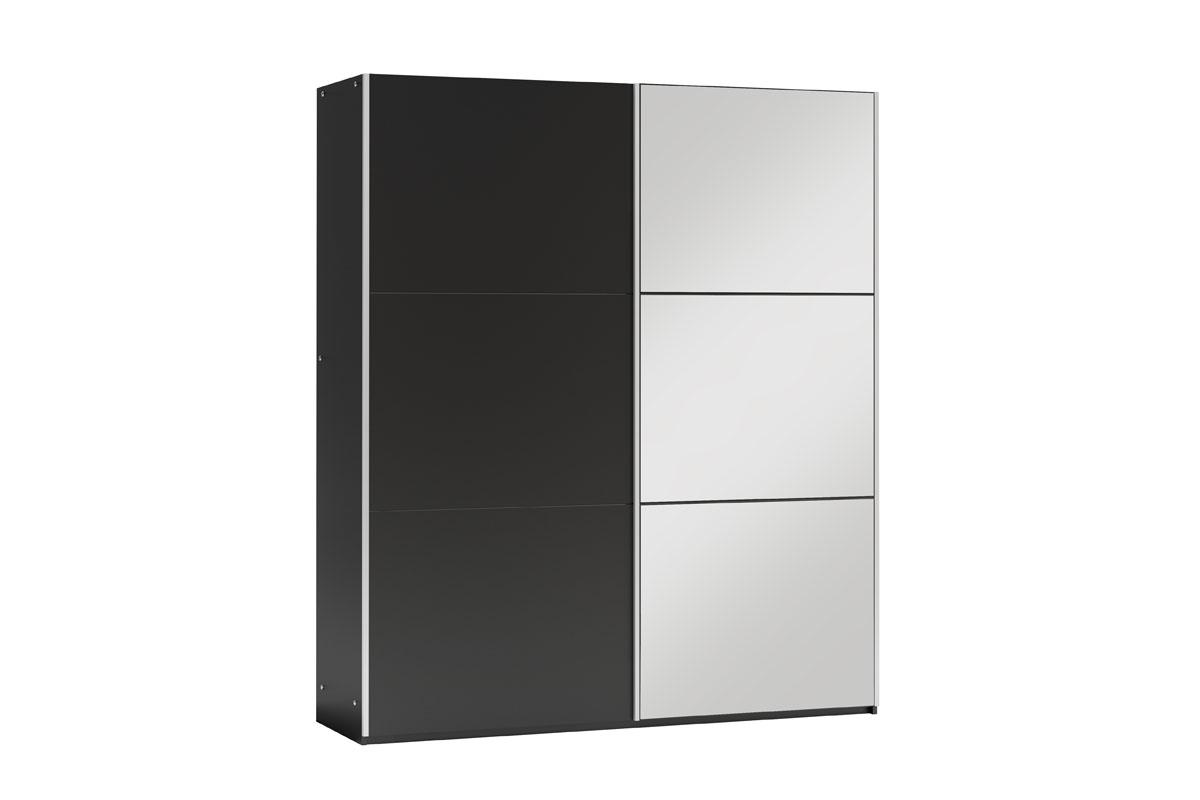 GOGO 150 šatníková skriňa so zrkadlom, čierna