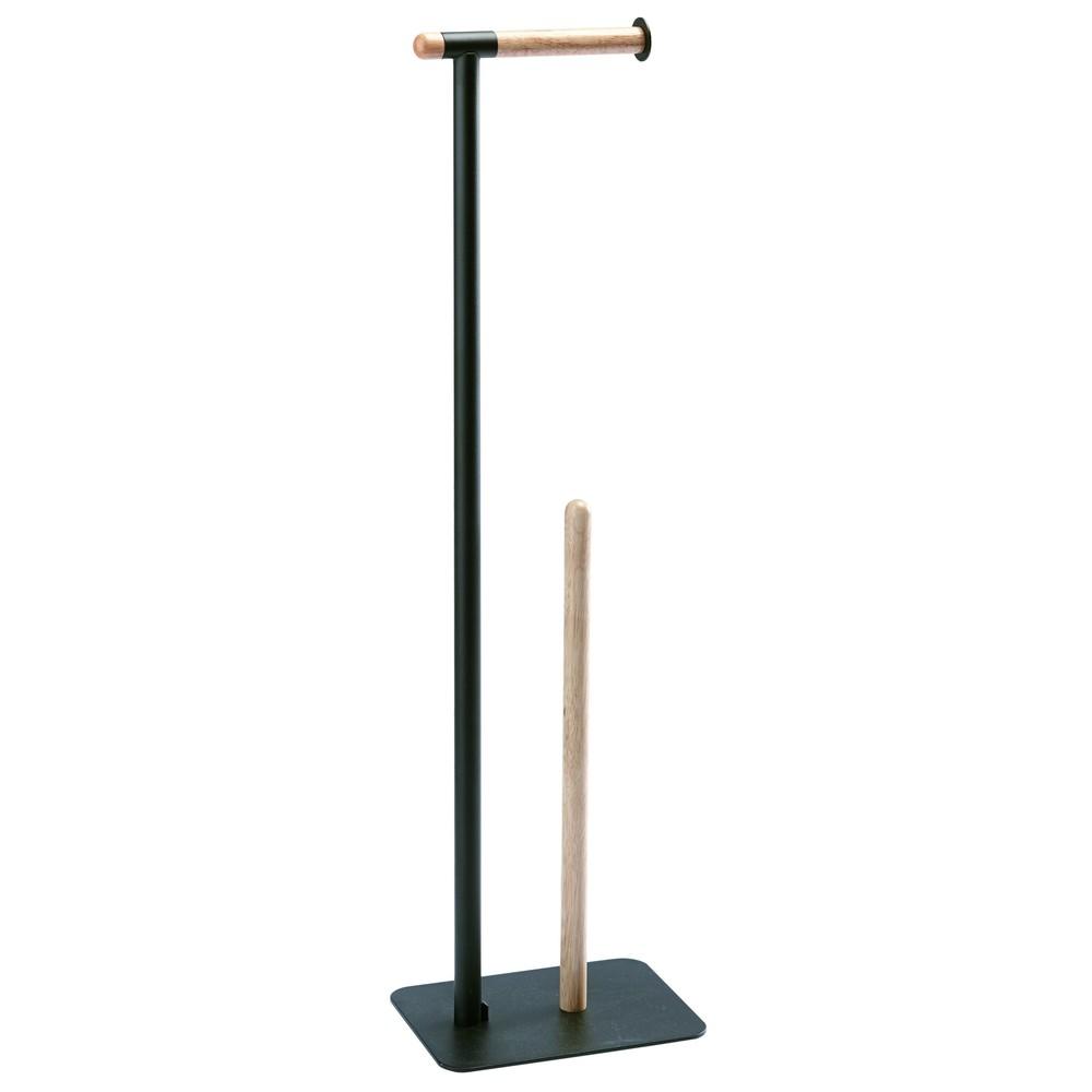 Čierny stojan na toaletný papier Aquanova Oscar