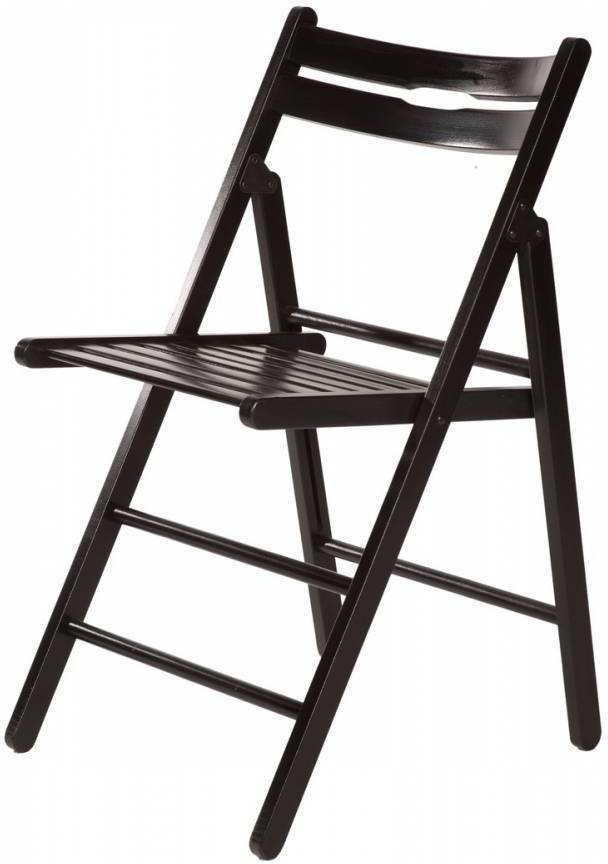 Skladacia stolička KLOPKLIP - čierna