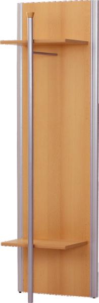 TEMPO KONDELA LISSI 10 vešiakový panel - buk / strieborná