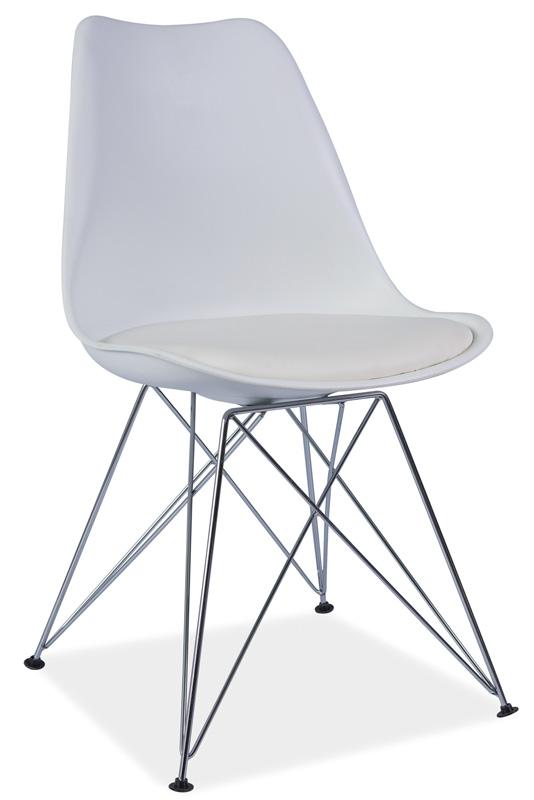 TIMEA jedálenská stolička, biela