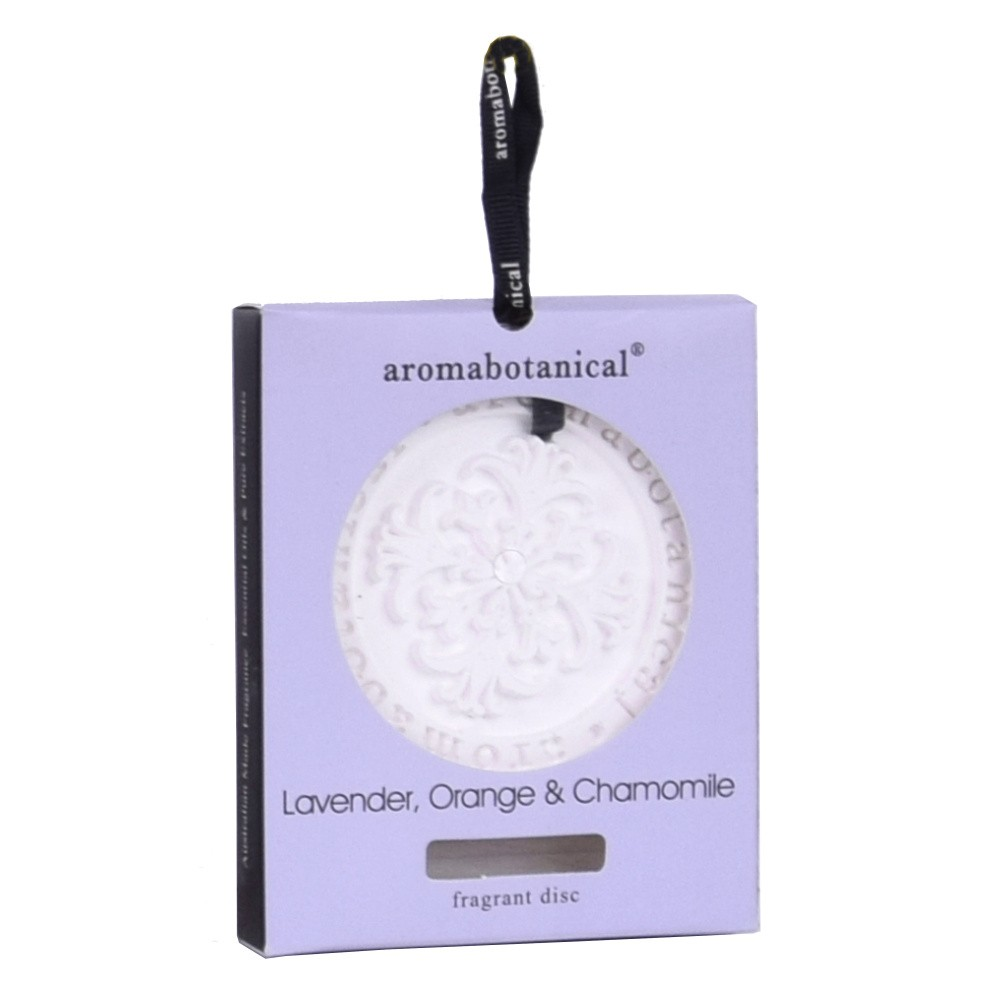 Disk z vonného ílu s éterickým olejom s vôňou levandule a harmančeka Aromabotanical