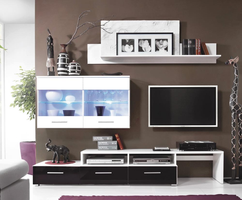 Malá obývacia stena BALI (ZARA) čierna
