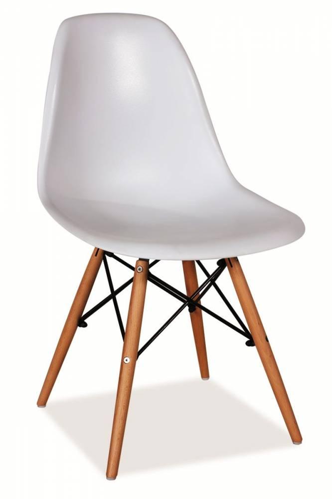 SIGNAL ENZO jedálenská stolička - buk / biela