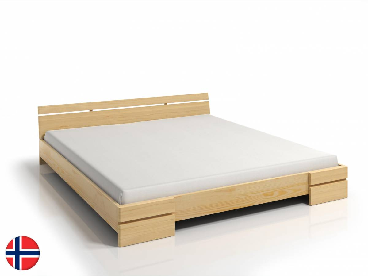 Manželská posteľ 140 cm Naturlig Bavergen Long (borovica) (s roštom)