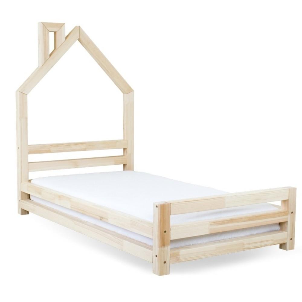 Detská posteľ z lakovaného smrekového dreva Benlemi Wally, 120 × 200 cm