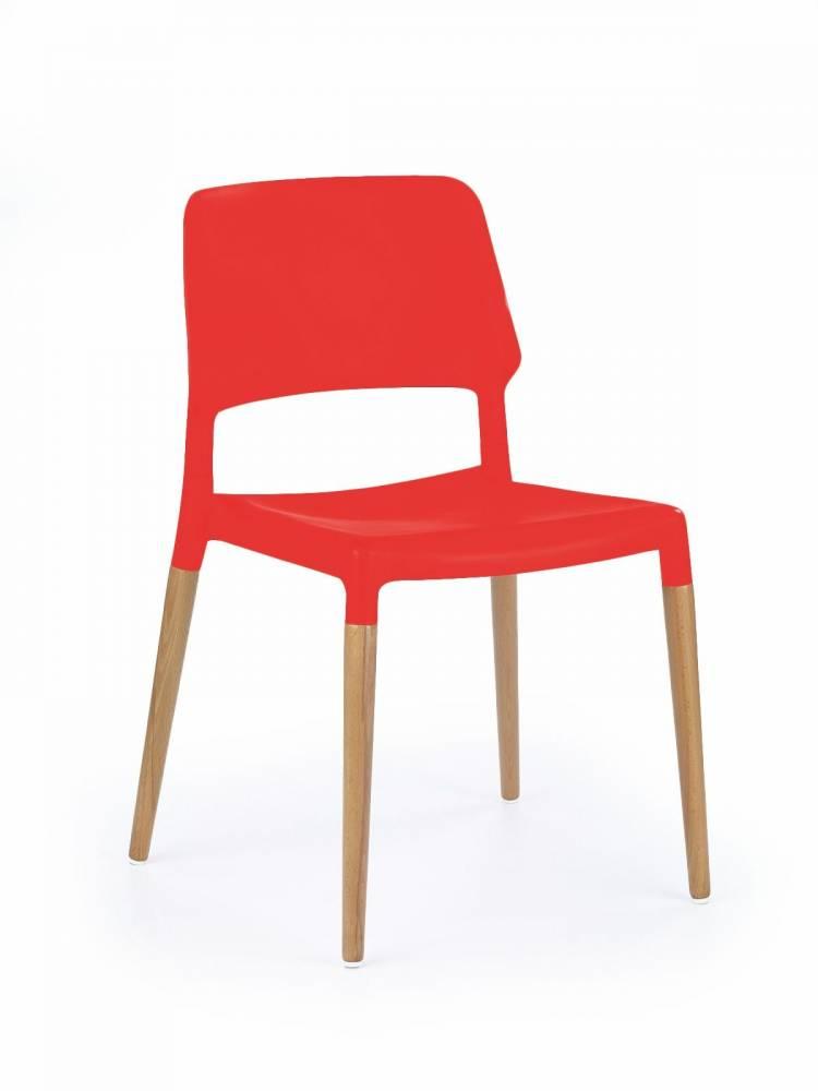 Jedálenská stolička K 163 červená