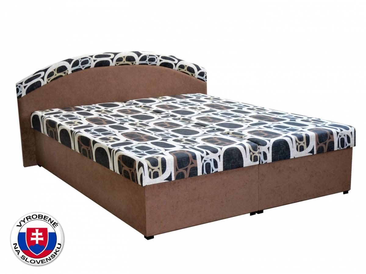 Manželská posteľ 160 cm Pandora (hnedá) (s roštami a matracmi)