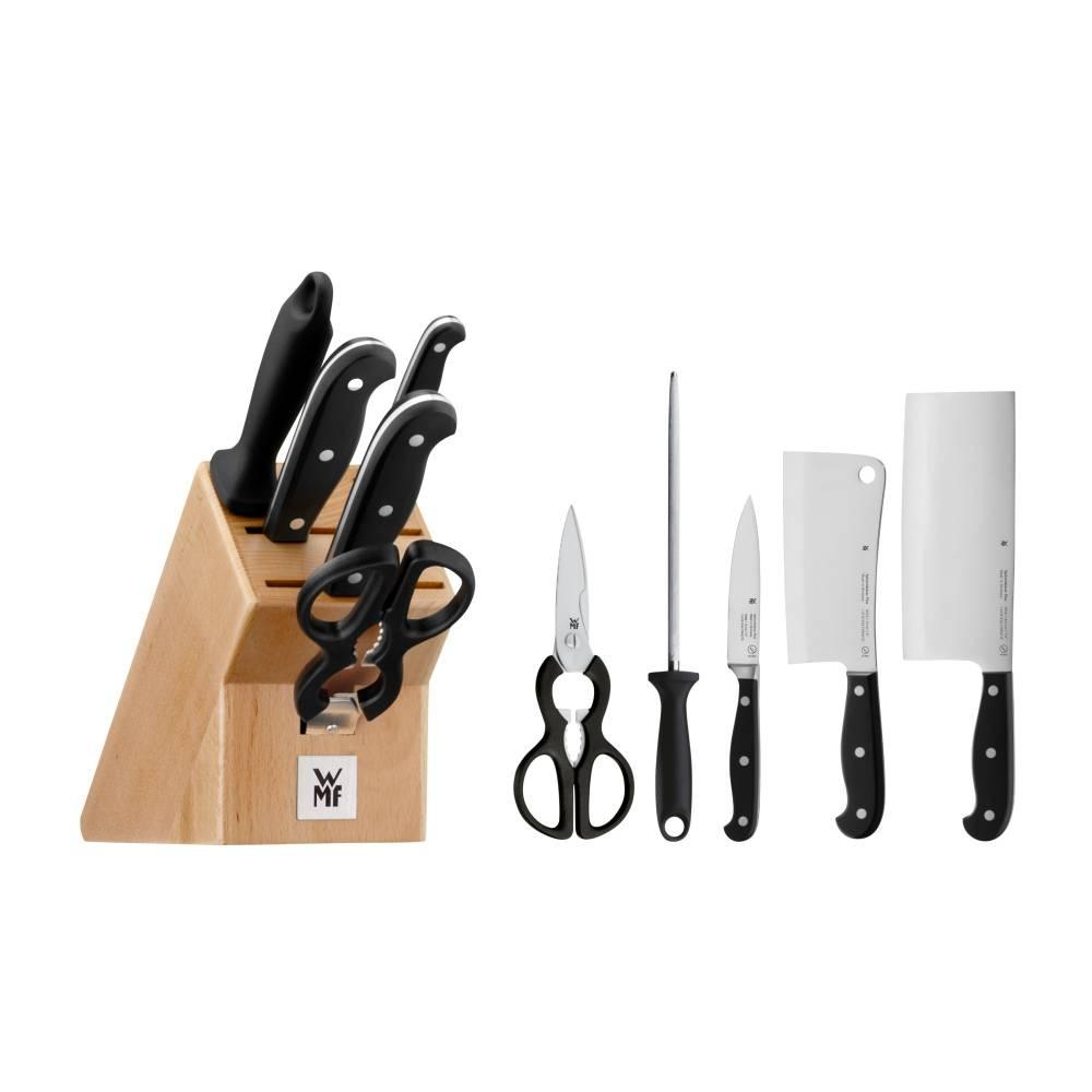 Súprava nožov so stojanom, ocieľkou a nožnicami 6-dielna Spitzenklasse Plus