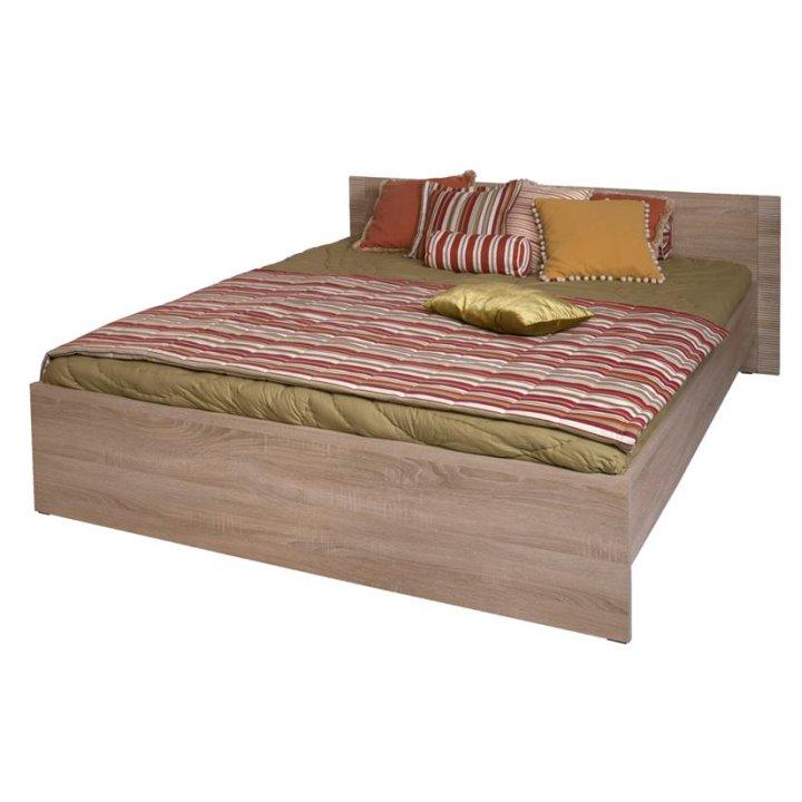 TEMPO KONDELA GRAND 20 160 manželská posteľ - dub sonoma